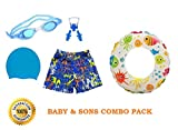 Baby & Sons Kids / BOY Swimming Kit with 1 Swimming Shorts |