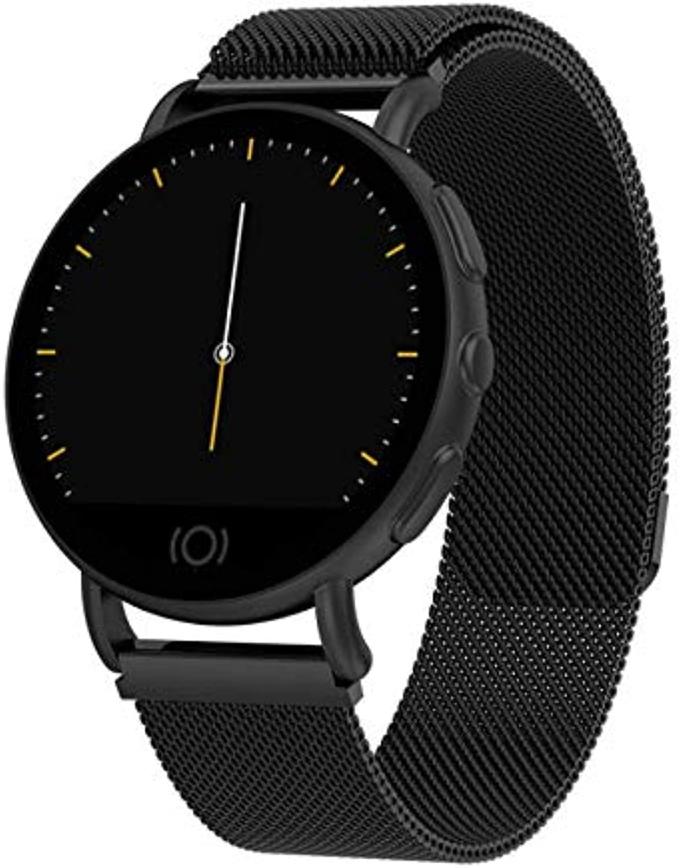 I-eJS Smart Watch, Fitness Tracker, 1,22 Zoll IPS Farbdisplay, IP67 wasserdicht, Blautdruck-Herzfrequenzmesser, Schlafmonitor, kompatibel mit iOS Android, geeignet für Mnner und Frauen,schwarz