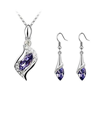 GYJUN Bijoux Colliers décoratifs Boucles d'orS forme boucles d'oreilles et collier bijoux Set , one size