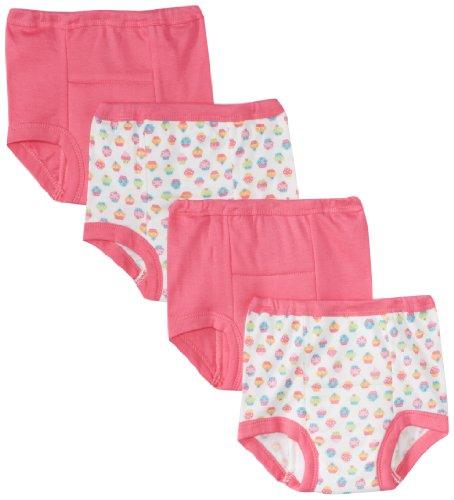 Gerber Little Girls'  4 Pack Cupcakes Training Pant