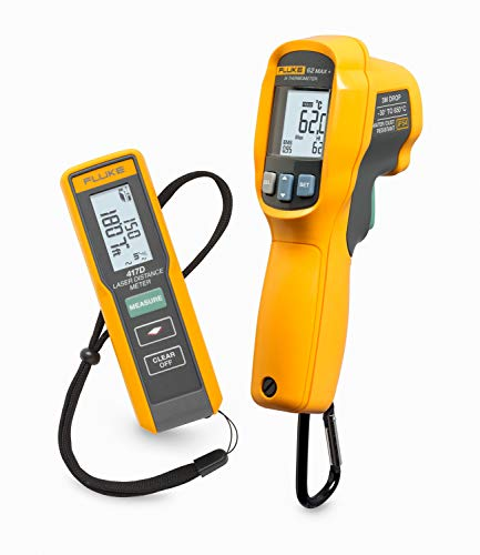 Kit, Fluke417D/62Max+, Laser-Entfernungsmesser 417D und IR-Thermometer 62Max+