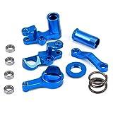 FPVKing Steering Servo Saver Complete Part Kit Aluminum Steering Bellcranks and Servo Saver Set w/Bearings for Slash 4X4 1/10 Truck RC Car