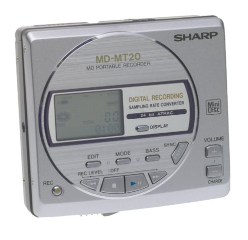 Sharp MDMT20 S Minidisc Player / Recorder with Anti Shock