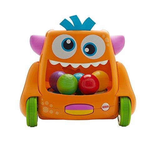 Fisher-Price Le Monstre Taquin, jouet intéractif bébé, phrases, chansons et sons, 2 modes de jeu pour encourager bébé à ramper, 9 mois et plus, FHD49
