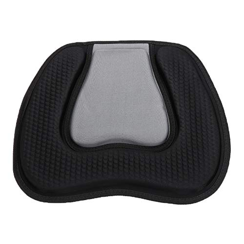 QINGRUI Inflatable boat valve 38x32cm Kayak Soft Seat Cushion Pad Canoe Fishing Boat Comfortable Cushion Seat Padded Black For Boat Durable and strong
