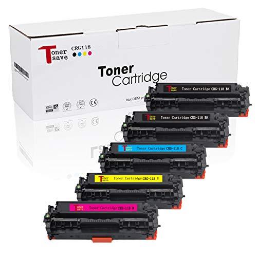 CRG-118 Tonersave 5PK Compatible Canon Cartridge 118 Toner Canon 118 Canon MF8580CDW Toner,Canon MF8380CDW Toner MF726cdw LBP7660CDN LBP7200CDN MF729CDW CRG118