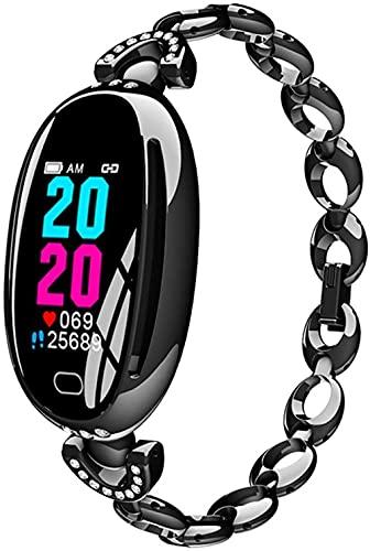 Reloj inteligente 0 96 pulgadas pantalla fitness Tracker deportes podómetro pulsera mensaje push recordatorio inteligente IP67 impermeable 100 mAh moda negro