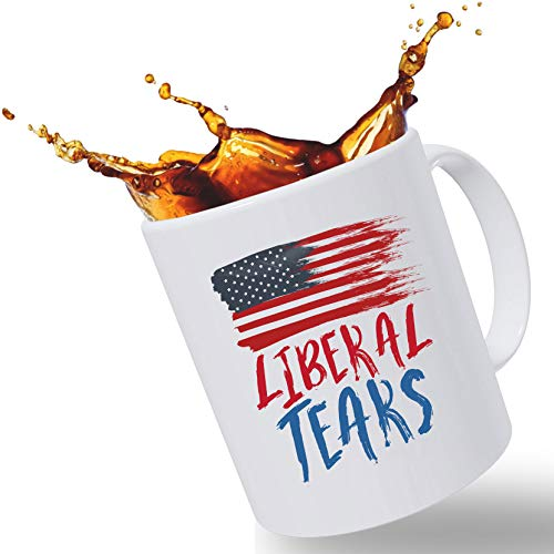 "Father's Day Gift Mugs for Dad – ""Lib Tears"" Funny 14 oz Ceramic Novelty Coffee Mug 