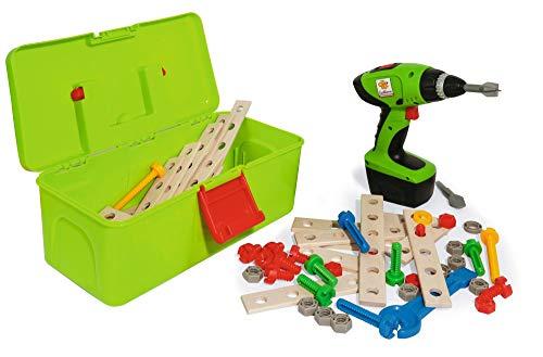 Eichhorn 100039079 Constructor Werkzeugbox, inkl. kompakt Schrauber, Erweiterungsteile, 70 teilig, FSC 100 Prozent zertifiziertes Buchenholz, Hergestellt in Deutschland, für Kinder ab 3 Jahren