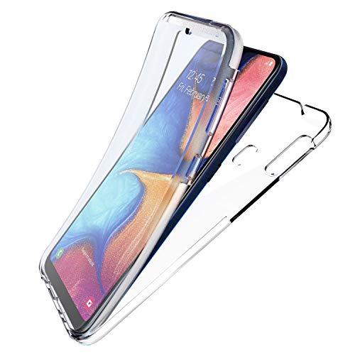 NewTop Cover Compatibile per Samsung Galaxy A20E, Custodia Crystal Case TPU Silicone PC Protezione 360° Fronte Retro Full Body