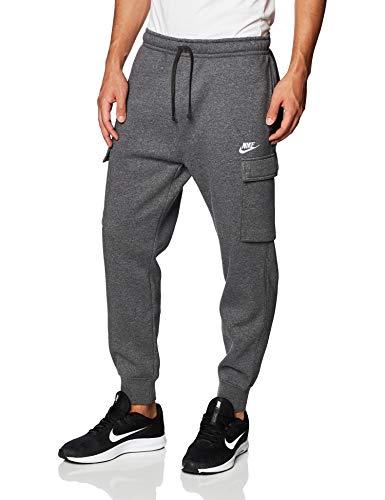 Nike Herren Club Cargo Bb Trainingshose, Charcoal Heathr/Anthracite/White, L