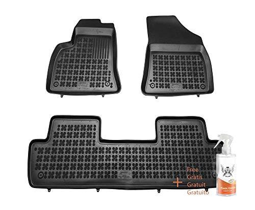 Alfombrillas de Goma Compatible con Peugeot 5008 I (2009-2017) + Limpiador de Plasticos (Regalo)