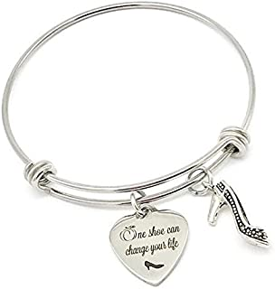 One Shoe Can Change Your Life, Cinderella Inspired Princess Bangle Bracelet