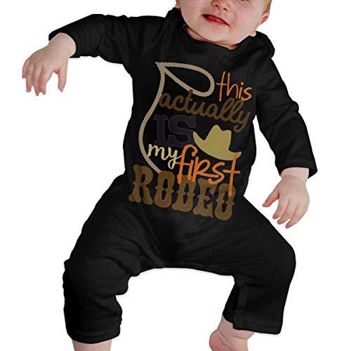 maichengxuan Mameluco Beb My First Rodeo Pijama de Algodn Mameluco Nias Nios Pelele Mono Manga Larga Trajes Newborn 6-24 Months