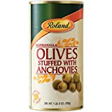 Roland Foods Manzanilla Olives Stuffed with Anchovies, Specialty Imported Food, 1 Lb 9 Oz ...
