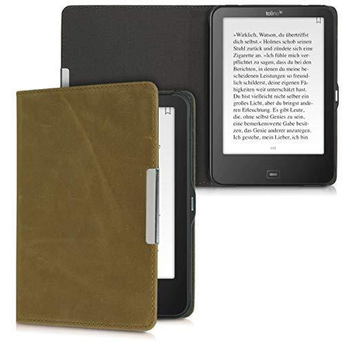 kalibri Hülle kompatibel mit Tolino Vision 1/2 / 3/4 HD - Leder eBook eReader Schutzhülle Cover Case - Braun