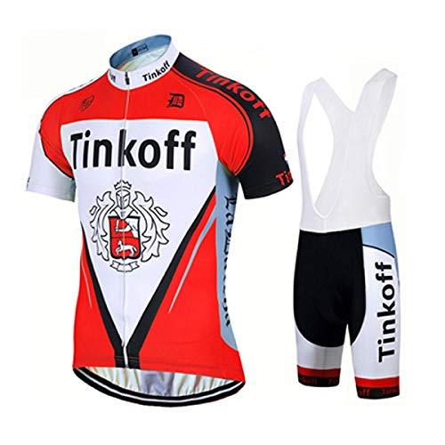 EIDKWTR Maillot de ciclismo de manga corta con culotte con tirantes para MTB, ropa de ciclismo para hombre, verano