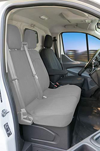 Walser 10531 Autoschonbezug Transporter Passform, Polyester Sitzbezug anthrazit kompatibel mit Ford Transit, Einzelsitz vorne