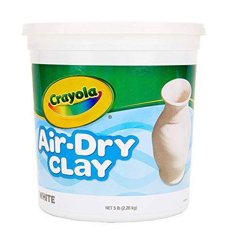 Crayola Air-Dry Clay, White, 5 pounds Resealable Bucket, for Classroom, Educational, Art Tools, 5 Pack