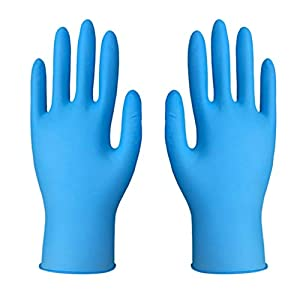Fainosmny 50 Pairs Rubber Comfortable Disposable Mechanic Nitrile Gloves Exam Gloves Paper Towels Disposable Gloves