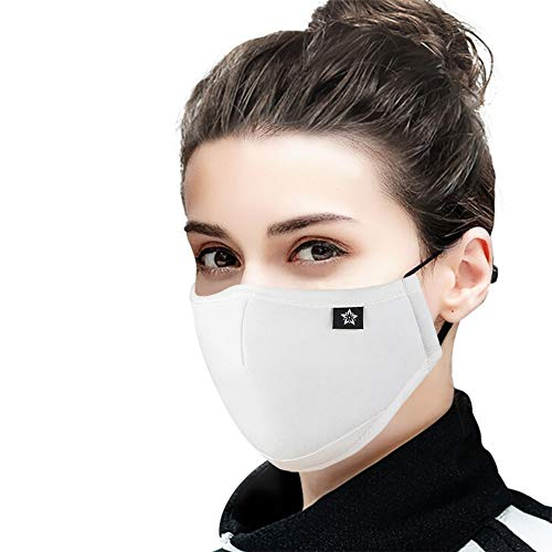 Cotton Face Mask with replaceable PM2.5 Activated Carbon Mask for Running, Traveling, Cycling Washable and Reusable Warm Windproof Mask (NEW16)