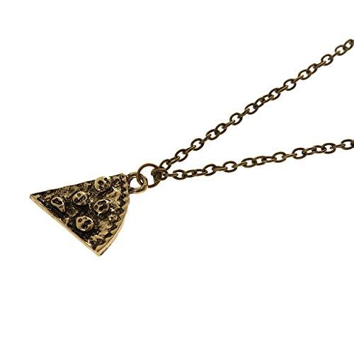 Pizza Slice Anhänger, Freundschaftsketten, 6Stück, Paareanhänger, Freundschaft Halsketten, mit 50cm Kette, für Damen & Herren - Antike Bronze