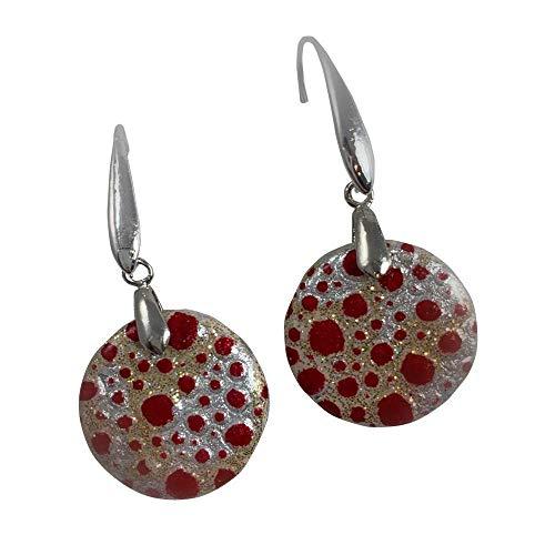 Ohrringe, Anhänger aus Polymerton. Ohrring Verschluss aus Nickelfreiem Metall. Made in Italy
