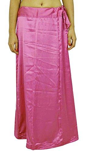 Indianbeautifulart Satin Silk Saree PetticoatUnderskirt Bollywood Indian Futter für Sari