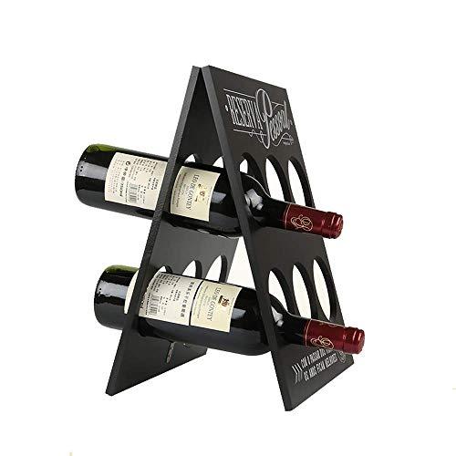 YO-TOKU Wijnrek Perfect Wijnrek Fles Wijnkelder In De Kelder Van Een Barkast Thee En Andere Onafhankelijke Opslag Rack Moderne Minimalistische Wijnrek (Kleur : Zwart, Maat : 37x30x1.8cm) Wijnrek