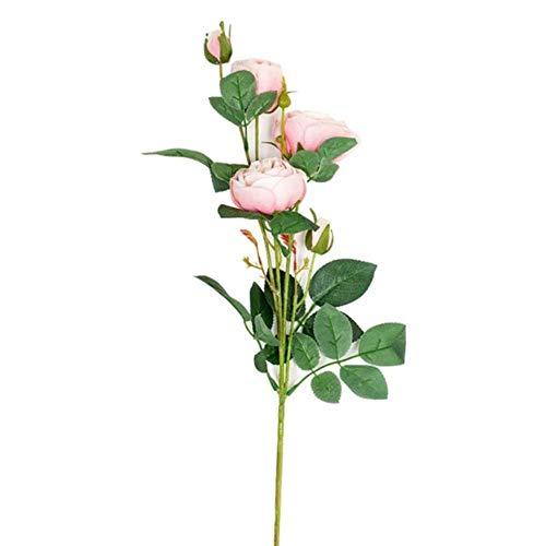 Kunstbloemen voor decoratie Roos Klein Bouquet kerstfeest Spring bruiloft decoratie Mariage valse bloem,1