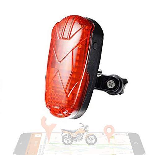Zeerkeer Localizador GPS para Bicicleta,Bike Tracker Moto Carro de Bebé Rastreador GPS Tiempo Real Antirrobo 1800mA 25 días de Larga Duración TK906
