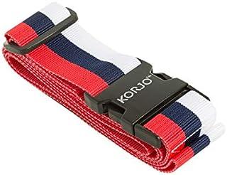 Korjo Luggage Strap, 4.5 Centimeters, Red/White/Blue