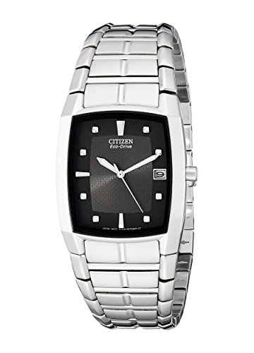 Citizen Men's Eco-Drive Stainless Steel Watch with Date, BM6550-58E