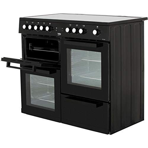 Beko KDVC100K 100cm Electric Range Cooker With 5 Zone Ceramic Hob - Black