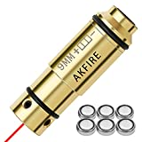 AKFIRE 9mm Laser Training Cartridge with Spare O-Rings - Dry Fire Trainer-Integrated Snap Cap for Dry Fire Training