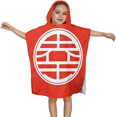 zhenglongbaihuodian Dra-gon B-All Z Premium Kapuzen-Strandtuch für Kinder Jungen Mädchen 2 bis 7 Jahre, schnell trocknende Bad- / Billardtücher Super Absorbent Hooded Poncho cho 23,7 x 23,7 Zoll
