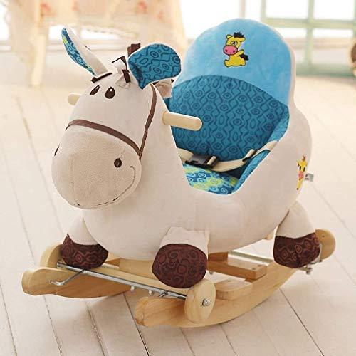NXYJD Netter Karikatur-Baby-Schaukelstuhl for Kinder Spielzeug Elefant Schaukelpferd Baby-frühe Bildung Spielzeug