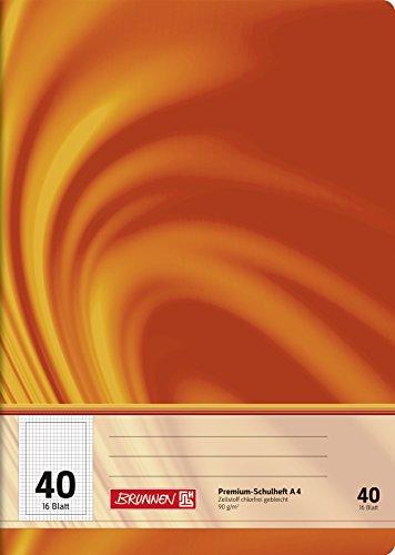 Brunnen 104474002 Schulheft A4 Vivendi (16 Blatt, 5 mm kariert, mit Rand, Lineatur 40)