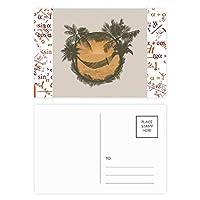 椰子の木の雲のハンモックビーチ 公式ポストカードセットサンクスカード郵送側20個