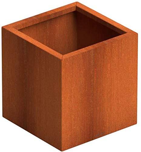 SENZZO Jardinera de acero Corten 37x37x40 cm Maceta Cortensteel