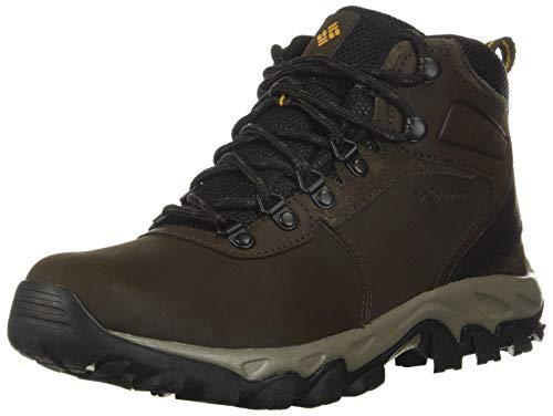 Columbia Men's Men's Newton Ridge Plus II Waterproof Boot, Cordovan, Squash, 15 Wide US