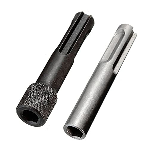 YUANLIN Taladro 1/4 '' Hex Hex Shank Destornillador bits de Taladro Convertidor de Adaptador Lanzamiento rápido Kit magnético para martillos Impacto bits Taladros (Color : 2PCS)