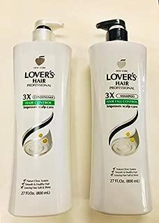LOVER'S HAIR PROFESSIONAL 3X SHAMPOO + CONDITIONER ANTI HAIR LOSS 27OZ 800ML
