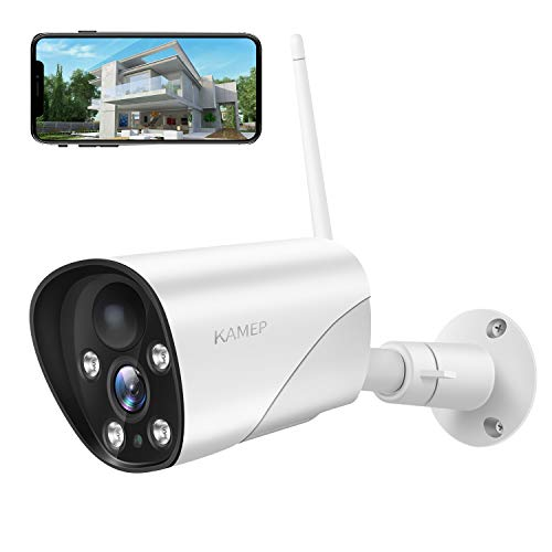 Photo of Outdoor Security Camera 1080P Weatherproof 2.4G WiFi Wireless IP Camera,Surveillance CCTV System with Night Vision, Two Way Audio, PIR Motion Detection Sensor,Work with Micro SD Card/Cloud KAMEP