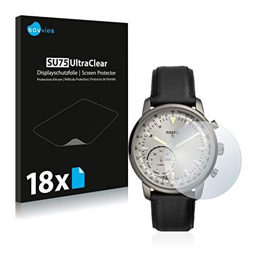Savvies 18x Schutzfolie kompatibel mit Fossil Q Goodwin Bildschirmschutz-Folie Ultra-transparent