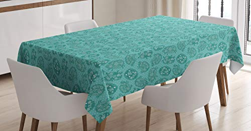 ABAKUHAUS Egel Tafelkleed, sierlijke Dieren, Eetkamer Keuken Rechthoekige tafelkleed, 140 x 170 cm, turquoise Teal