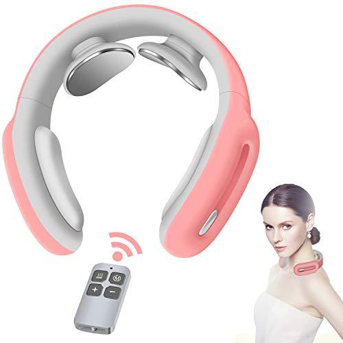 Nackenmassagegerät, Intelligente Nackenmassage mit Wärme, 3 Modi 15 Stufen Tiefenmassagegerät Elektrisches Massagegerät Verwendung im Home Office Auto zur Schmerzlinderung