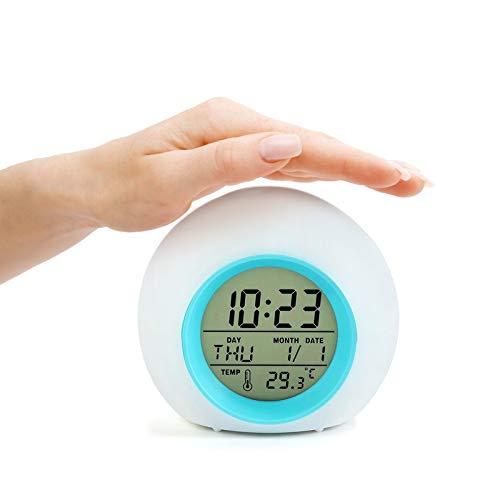 Lidasen Kids Alarm Clocks, Digital Wake Up Clock with 7 Colors Changing Light &...