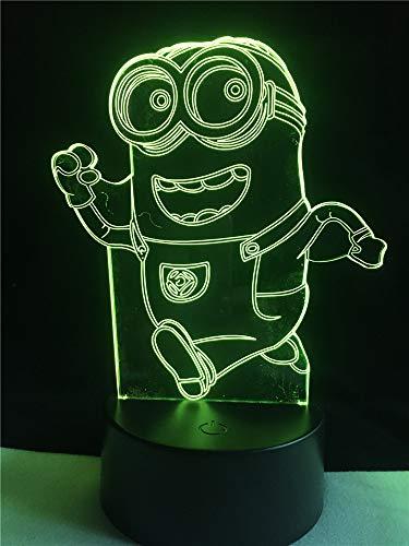 3D lamp bedlampje schattige gelukkige schaar nachtlampje voor de kinderkamer, led-lamp voor de woonkamer perfect geschenk voor kinderen
