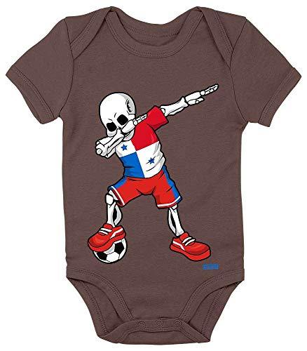 HARIZ Body pour bébé à manches courtes avec squelette de Dab Panama Maillot de l'équipe + cartes cadeau Kacka Marron 0-3 mois